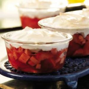 meringue topped strawberries_rhubarb_eating well