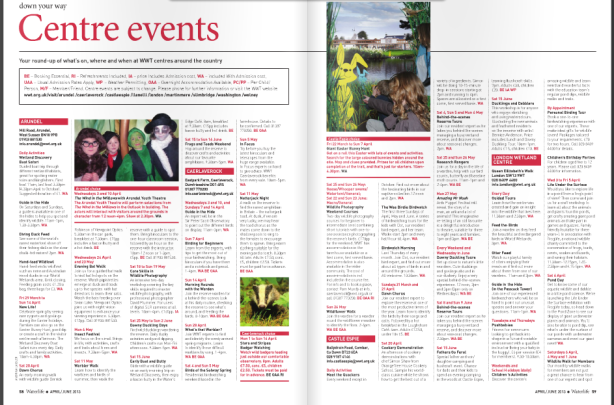 Waterlife-Issue 184- April - June 2013- centre events